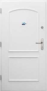 Wohnungstür TWE6 RAL 9016 mit digitalem Türspion innen